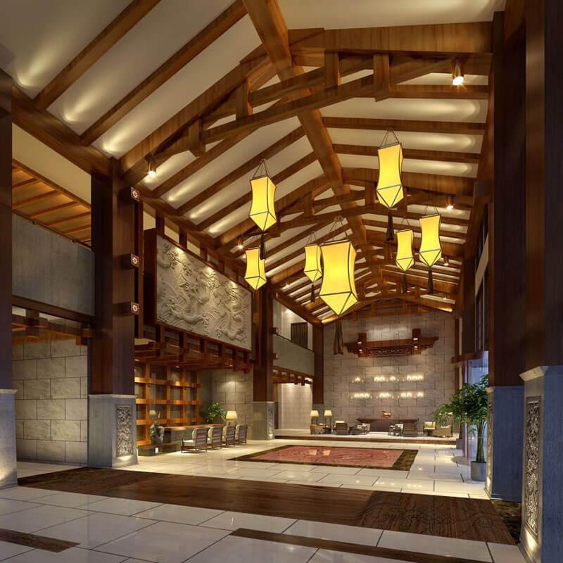 高檔中式酒店燈光設計方案-孫氏照明設計