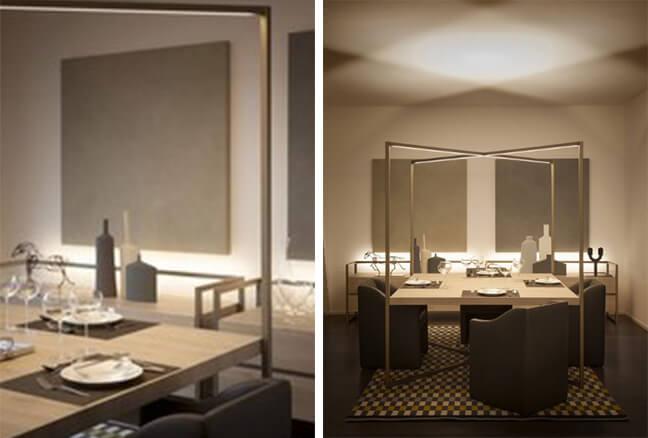 线性无主灯照明设计方案案例赏析——city life公寓