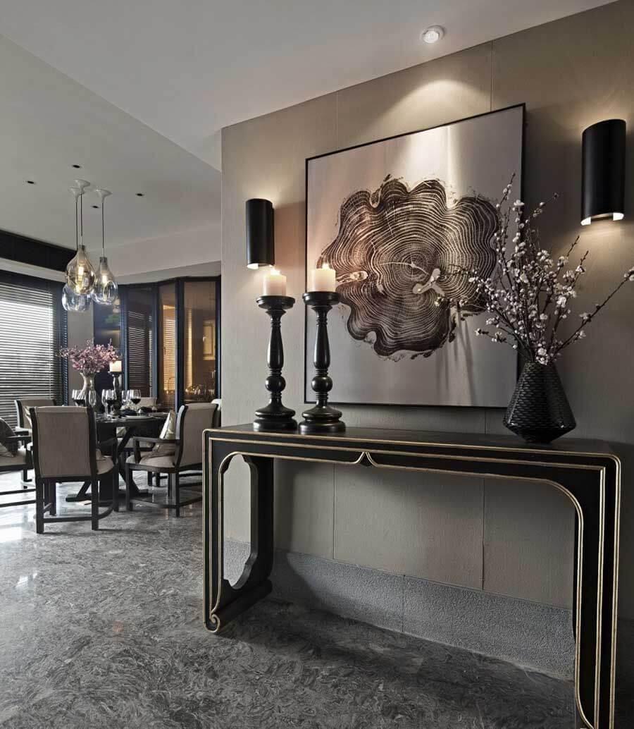 轻奢现代中式别墅照明设计方案|简约中式灯光设计方案