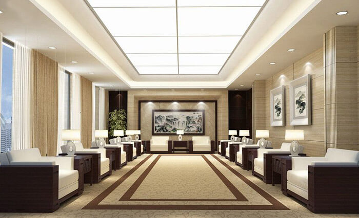 公司接待室灯光设计方案|企业接待室照明设计公司